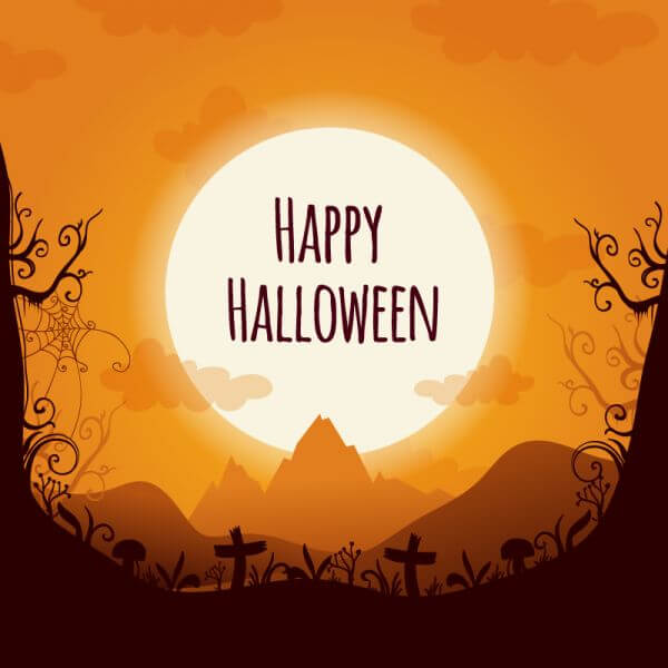 Halloween landscape  vector