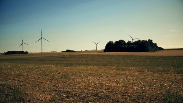 Wind turbine  renewable energy  new energies video