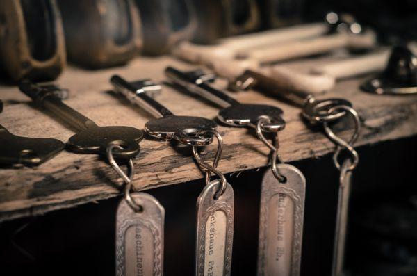Keys on a shelf photo