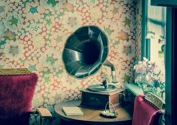 Old gramophone photo
