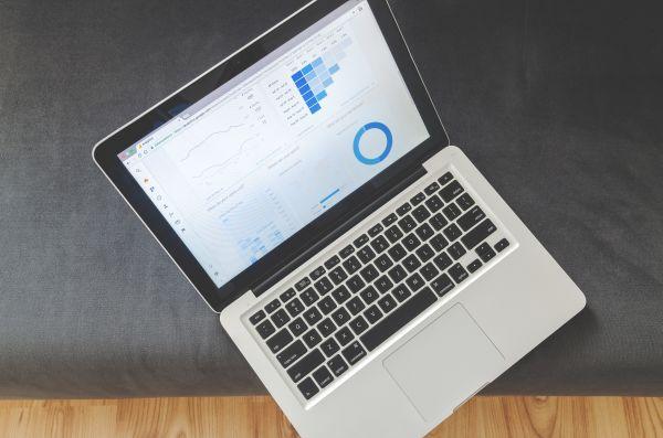 Office MacBook Laptop Charts Analytics photo