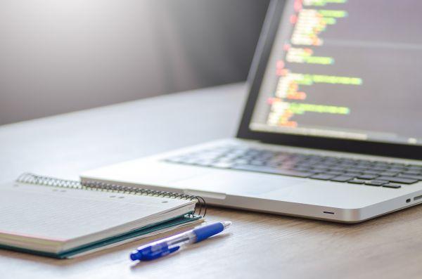 Notepad Pen Desk MacBook CSS Code photo