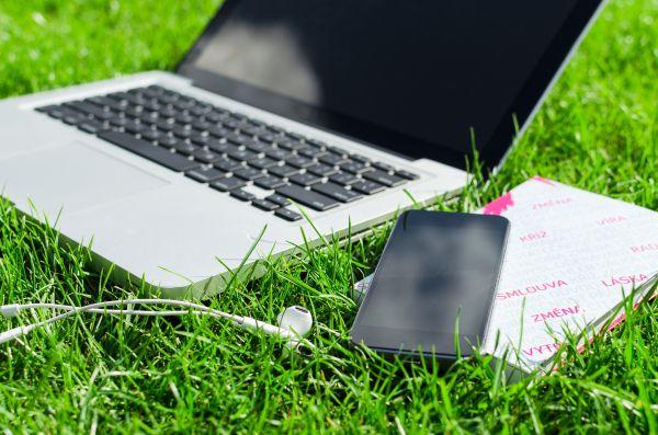MacBook Headphones iPhone Grass photo