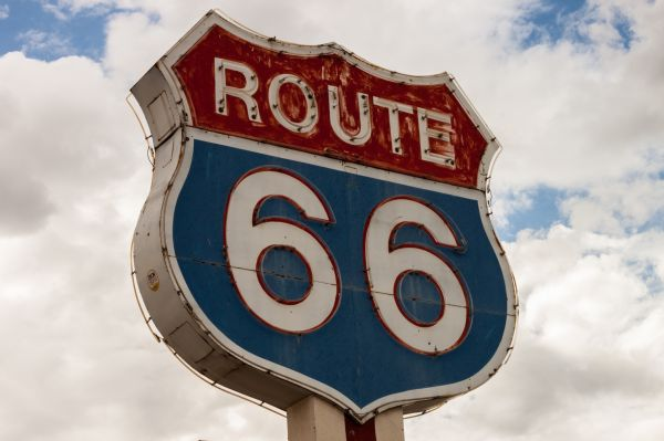 Route 66 Road Sign Neon photo