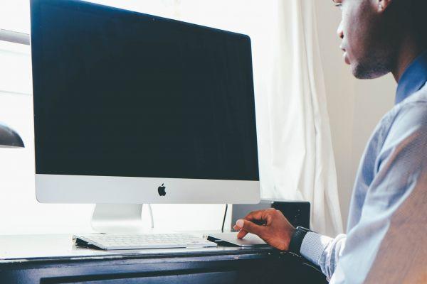 Man Mac Computer photo