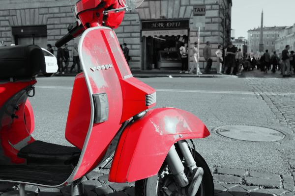 Red Vespa Street Italy photo