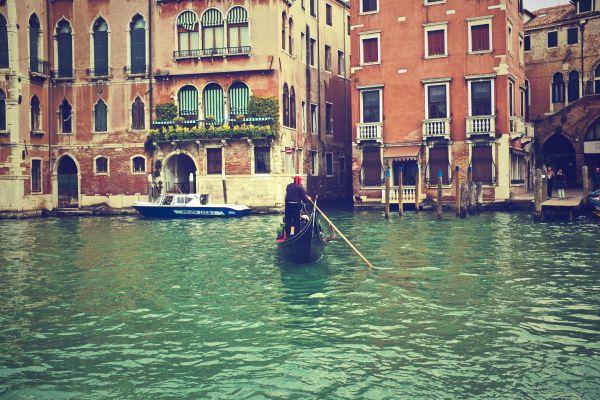 Gondola Venice Italy Water Sea Boat photo