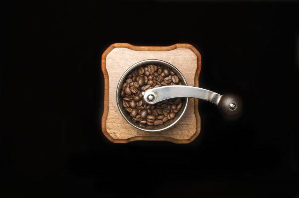 Coffee Grinder Overhead Black photo