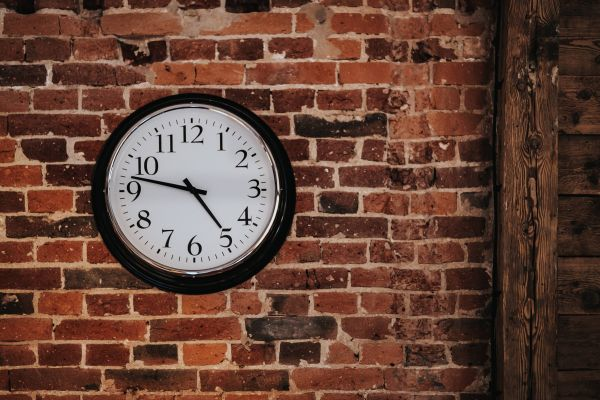 Red Brick Wall Clock photo