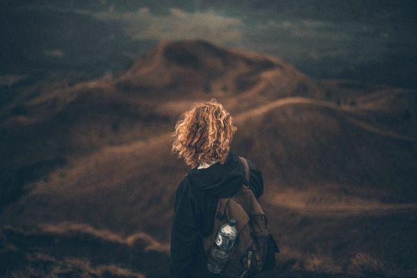Woman Autumn Fall Mountains photo