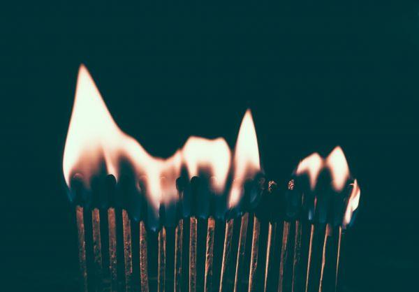 Burning Matches Fire photo