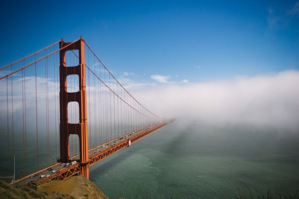 Golden Gate Bridge Fog photo