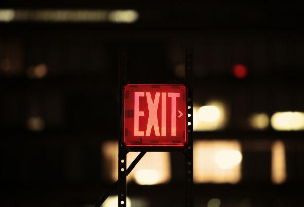 Exit Neon Sign photo