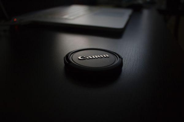 Black Canon Lens Cap photo