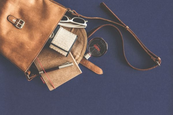 Brown Leather Bag Fashion photo