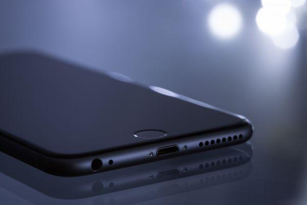 Black iPhone Closeup Bokeh photo