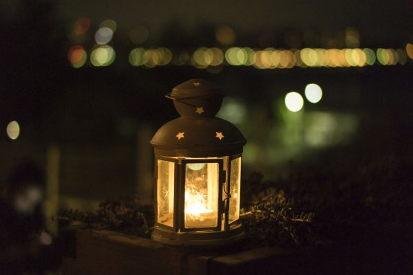 Lantern Candle Light Night photo