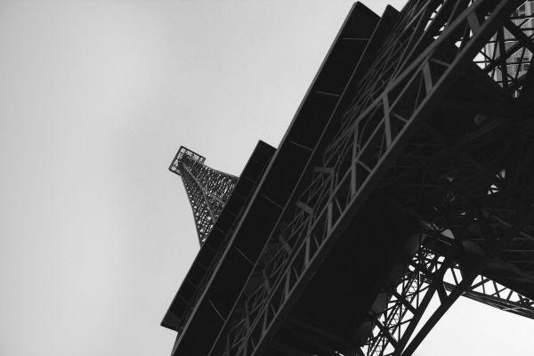 Black White Eiffel Tower France photo