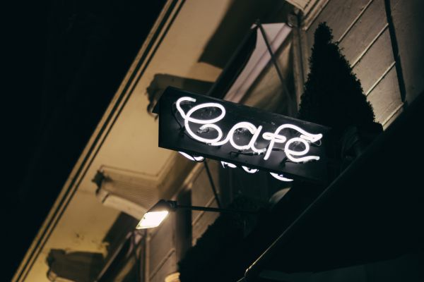 Cafe Neon Sign Night photo