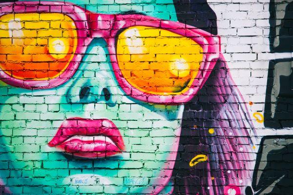 Graffiti Street Art Woman Color photo