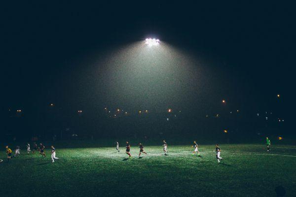 Football Match Night Lights photo