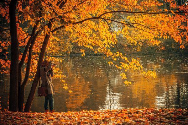 Autumn Lake Photographer Woman photo