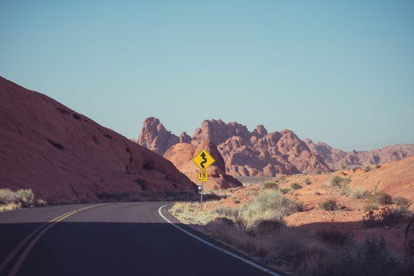 Desert Road Street Sign photo