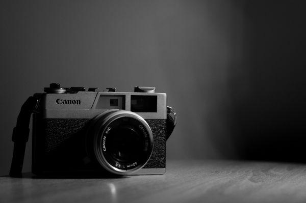 Canon Camera Black White photo