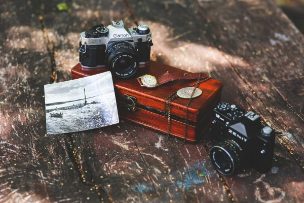 Vintage Camera Watch Photograph photo