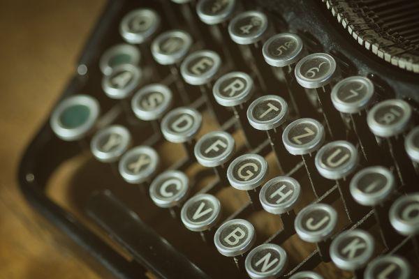 Closeup Vintage Typewriter photo