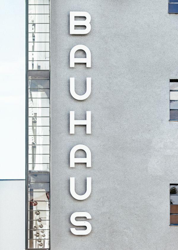 Large Bauhaus Sign photo