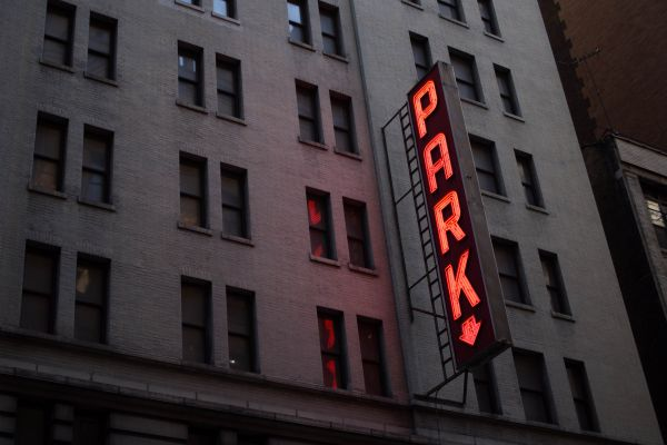 Large Car Park Neon Sign photo