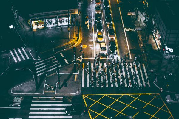 City Night Lights Crossing photo