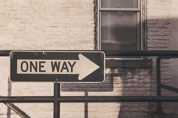 One Way Road Street Sign photo