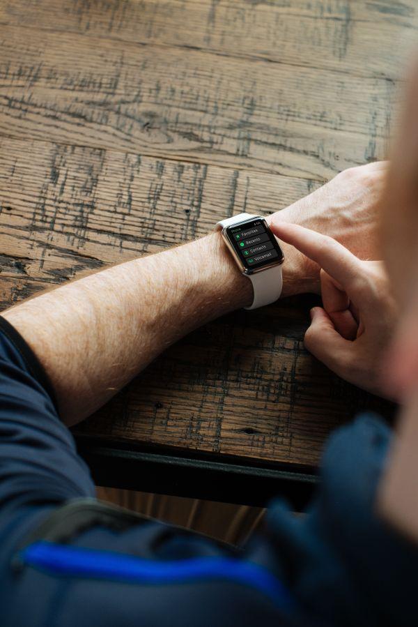 Apple Watch Wood Desk photo