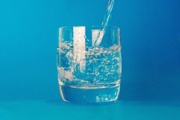 Glass Water Minimal Blue photo