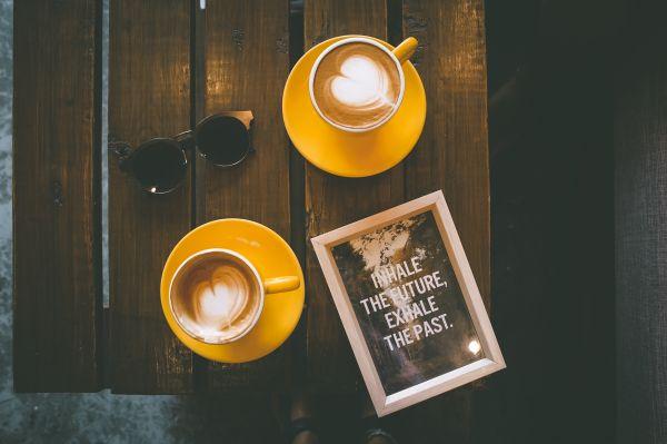 Coffee Wood Table Sunglasses photo