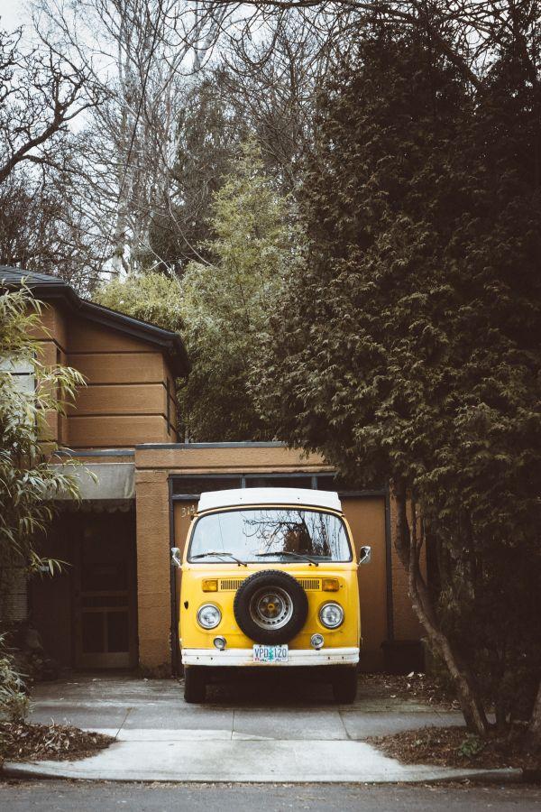 Classic Yellow Volkswagen Van photo