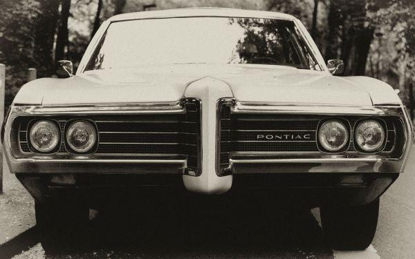 Classic White Pontiac Car photo
