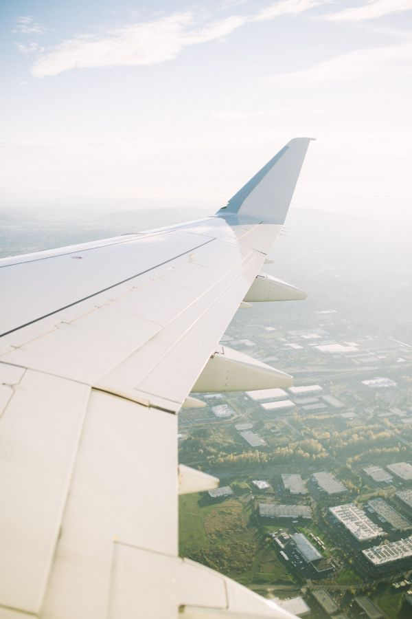 Airplane Wing Flying Sky photo