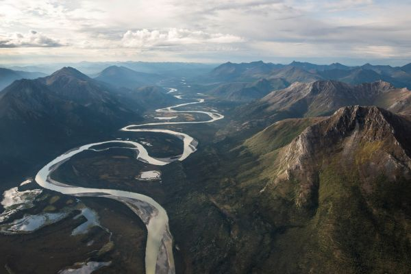 Mountains Windy River photo