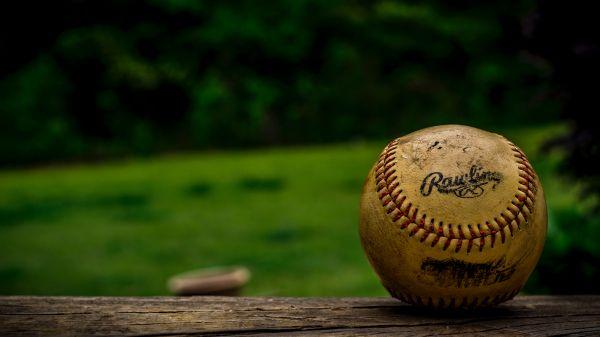 Closeup Vintage Baseball photo