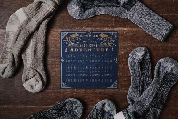 Adventure Calendar Socks Wood Desk photo