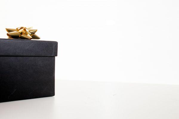Black Christmas Gift Box photo