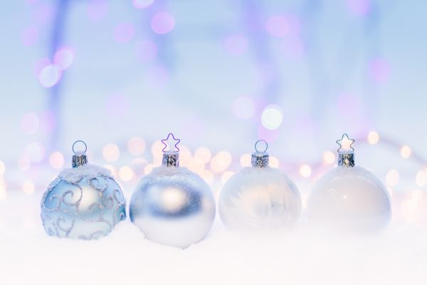 Crystal Christmas Tree Baubles photo