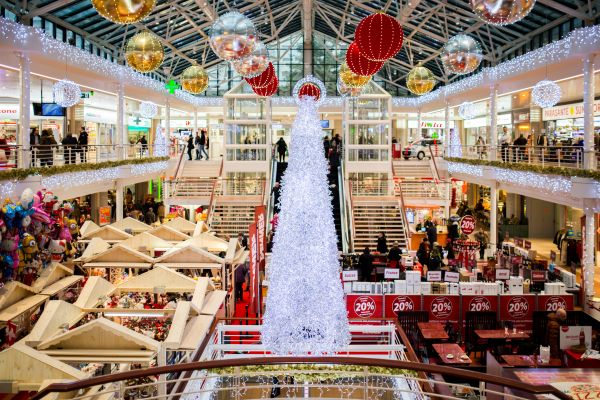 White Glass Christmas Tree photo