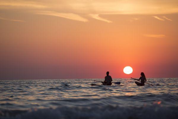 Sea Canoe Sunset photo