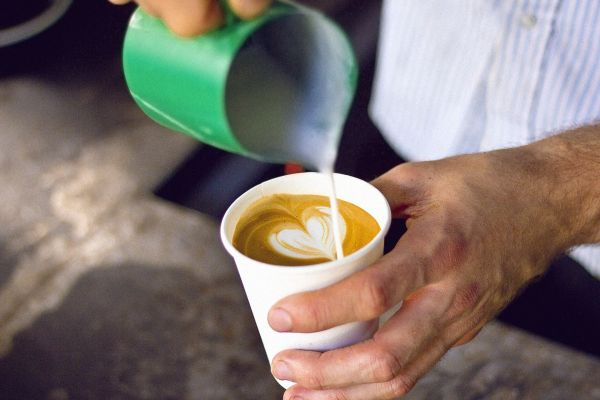 Pour Coffee Cappuccino Man photo