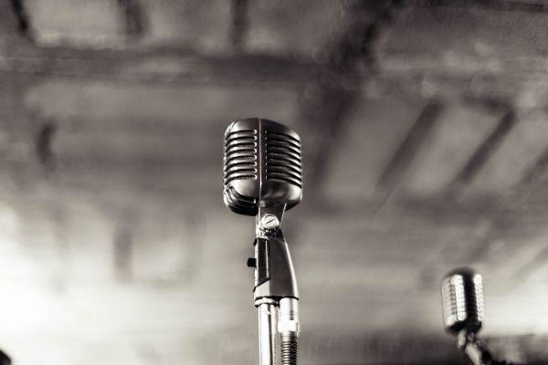 Vintage Music Band Microphone photo