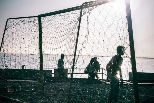 Sea Beach Football Goal photo
